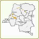 Carte de localisationdes concessions SODEFOR en phase d'aménagement durable